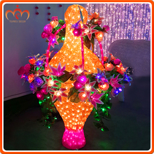 valentine day gifts Fashionable Lovely Plastic LED Flower with Lights