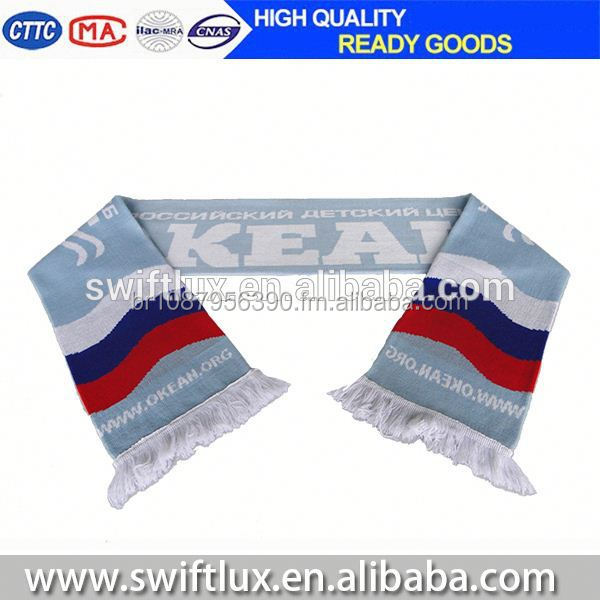 hot selling wholesale world cup football team crochet knit scarf