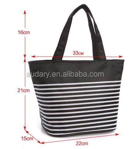 Cheap insulated cooler lunch bag hand tote bag, canvas polyester waterproof material