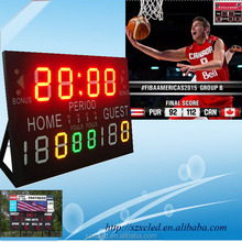 Both indoor/outdoor 1.8 meters basketball electronic scoreboards basketball game timing 14 seconds to 24 seconds chronograph