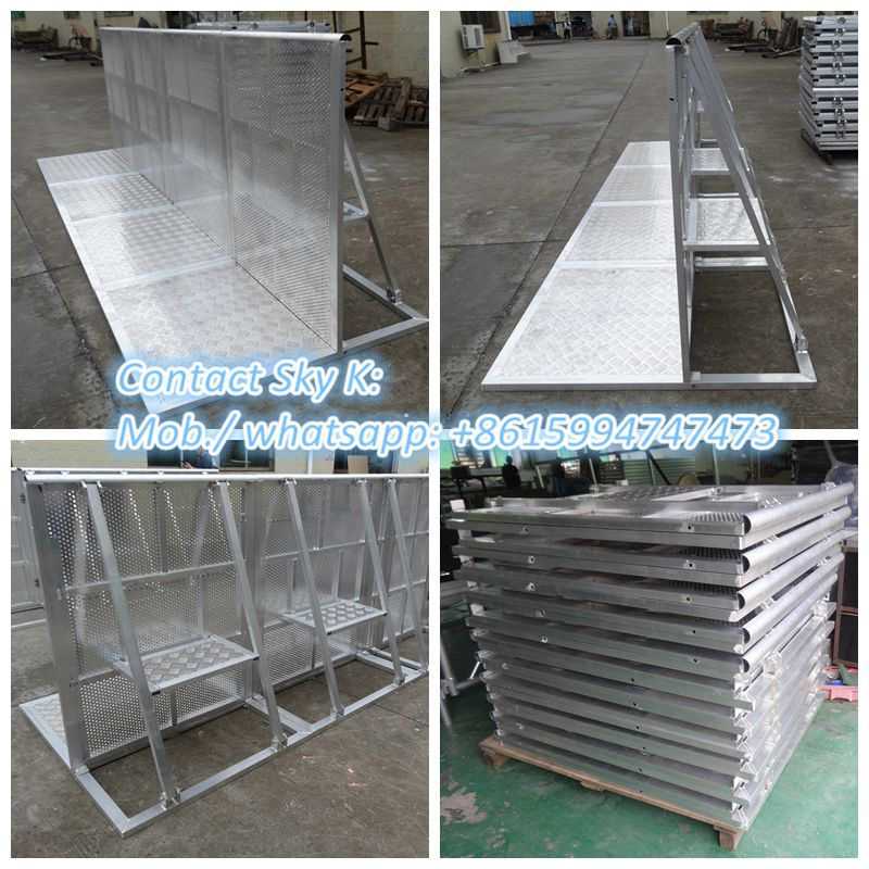 2015 lock system event equipment/crowd pit barrier/mojo aluminum barrier