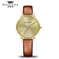 Hot sale fashion 22k gold wrist watch, stainless steel japan movement wrist watch women wholesale