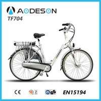 "28"" ebike TF704 for ladies36v/10ah lithium battery and 250w 8fun brushless geared hub motor"