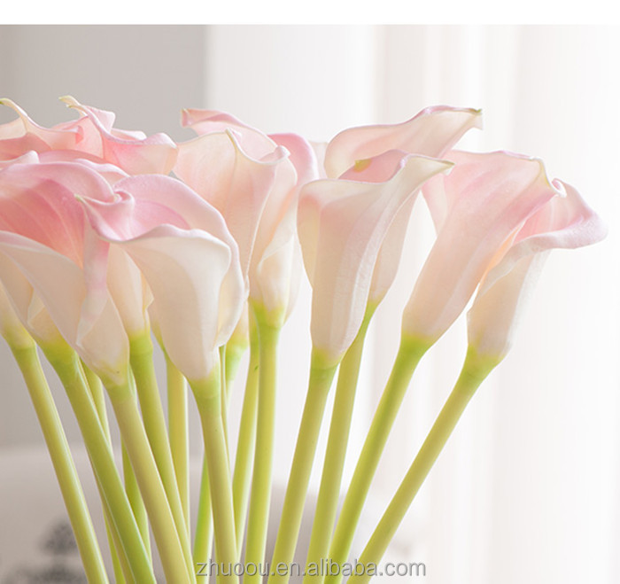 Real Touch Calla Lilies Wholesale Calla Lily Bulbs Glass Flowers the <strong>Wedding</strong> for Bride