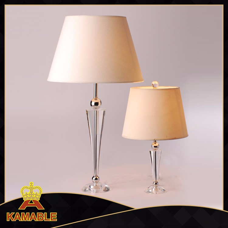 Home decor classical italian style clear crystal base vintage desk lamp