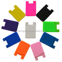 Smart wallet Silicone cell phone credit card holder