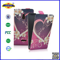 Hot Selling 100% Perfect Fit Flip Case for Nokia XL Slim Flip Leather Case Cover Laudtec