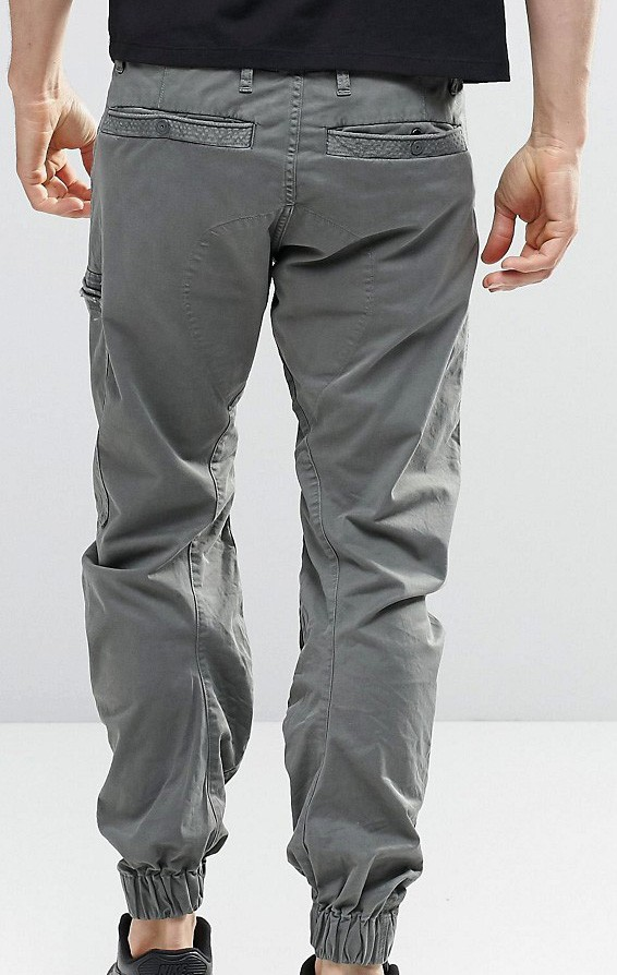 man chino pants patch knee pants jogger pants with pockets