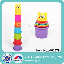 educational baby plastic stacking cups toy