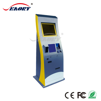 bill payment ticket dispenser kiosk with cash register