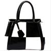 Fashion black-white grid leather femal hand clutch bag