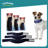 Cheap wholesale personalized summer cool belt black color removable nylon gel dog cooling collar