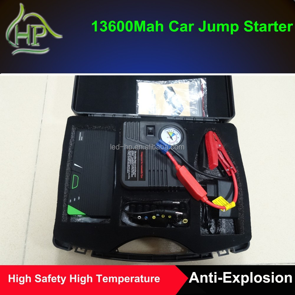 12V Multifunction portable car jump starter with air compressor