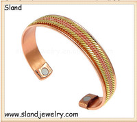 SLand Jewelry Manufacturer cheap wholesale engravable magnetic copper golf bangle cuff - Joint Pain Relief Aid bracelets