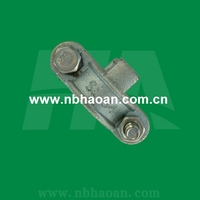 Malleable Iron Zinc Plated Double Bolt Clamp with Safety Claws