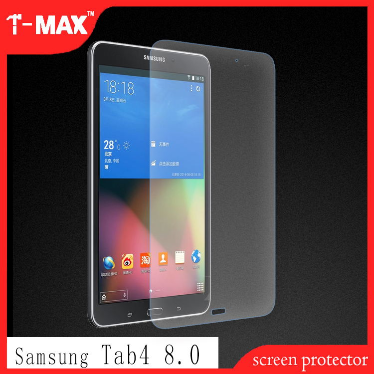 T-max 9H 0.33mm tempered glass screen protector For Samsung tab4 8.0, 2.5D android tablet lcd touch screen cover