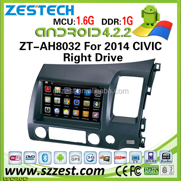 android 5.1 version car dvd for honda civic 2006 2007 2008 2009 2010 2011 with WiFI/3G/BT/SWC/USB/RDS
