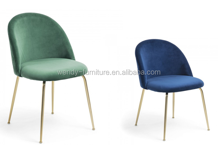 wholesale velvet dining chairs with metal frame