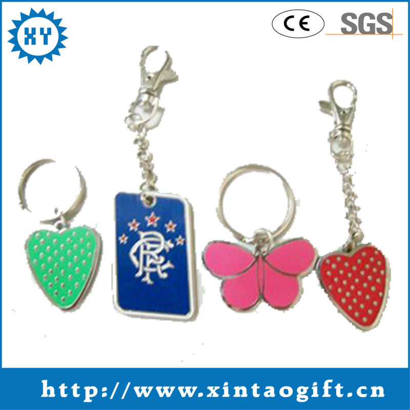 enamel paint metal keychains manufacturers in china