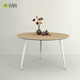 cheap prices metal steel base and legs wholesale european style modern design white or oak wooden round office coffee tables