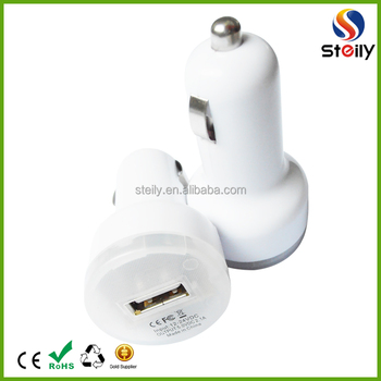 Colorful 2.1A Aluminum 2 Port Dual USB Car Charger