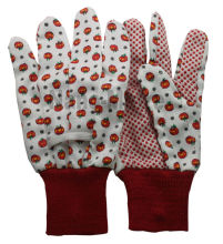 NMSAFETY cotton drill glove garden flower for women glove