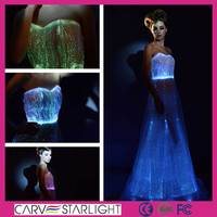 new light up luminous net long frock design for ladies evening dresses