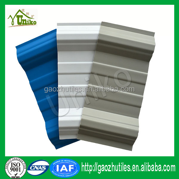 Corrugated plastic roofing embossed pvc sheet for poultry house