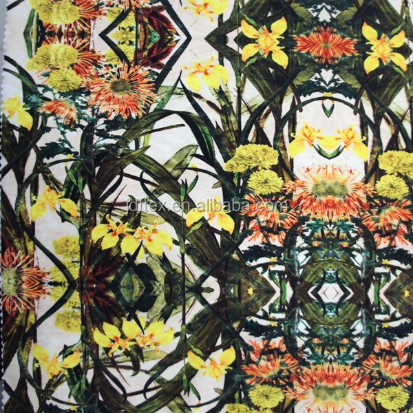 73 polyester 27 elastane moisture wicking digital printed fabric for yoga leggings