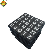 Scrabble crossword tiles solid plastic game black colored with white lettering