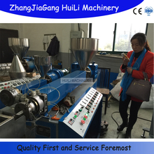PP plastic straw extruding straw cutting machine production line