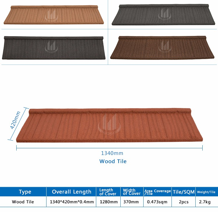 India Hot Sale Metal Stone Coated Clay Curved Roof Tile