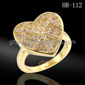 Latest new design heart shaped gold covering fashion jewellery