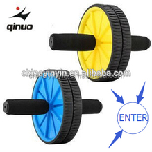 gym fitness ab slimmer wheel with foam handle