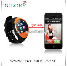 DG-MQ88L 1.44 inch watch mobile phone MTK6250 water proof bluetooth GPRS multi language wrist phone