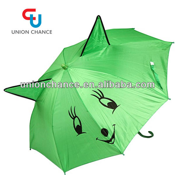 Ear Shaped Children Umbrella With Cartoon Paint