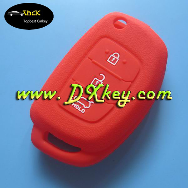 Factory price auto Silicone car key cover for Hyundai key remote key case 3 buttons