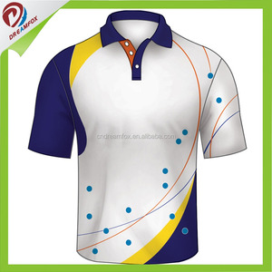 China Wholesale Casual Style Polo Shirt Design, custom mens polo shirt sublimation designed lawn bowling shirts