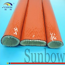 SUNBOW RoHS High Quality High Temperature Resistant Thermal Insulation Silicone Fiber Glass Fire Sleeve