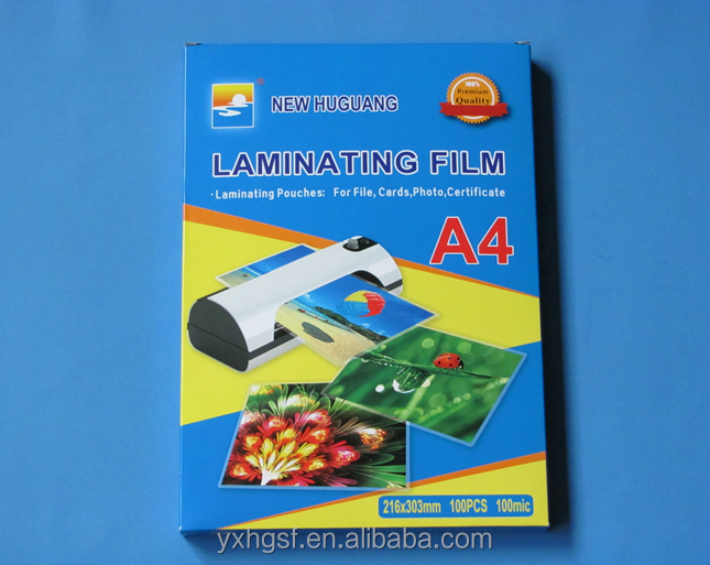 A4 Anti-static Transparent Pouch Laminating Film