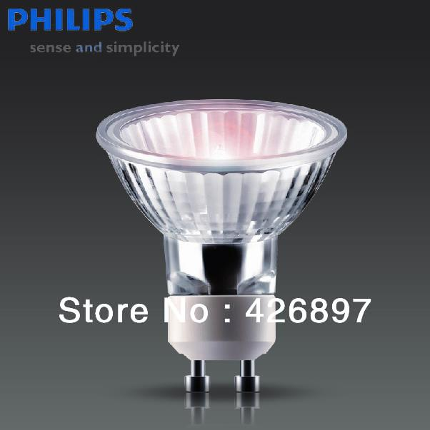 PHILIPS 220V 230V 240W 35W 50W GU10 36D Essential halogen lamp,2000 hours light,Aluminum reflector glass cover dimmable bulb