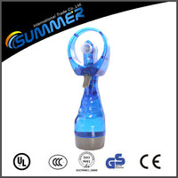 Colorful portable water cooling fan outdoor small misting fan
