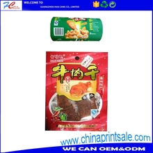 Super quality! jerky bag made of cooked food bag matte PT aluminum three side seal hanging hole bag vacuum roll film