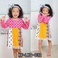 children boutique clothing design girl colored frocks baby printed long sleeve dress