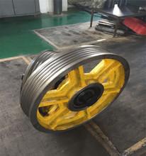Supply high quality guide rail roller wheel elevator spare parts cast iron black wheel nylon wheel price for sale