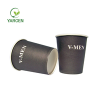 Hot Sell black single wall heat proof paper cups manufacturer