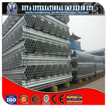 ungulvanized and galvanized steel pipe BS 1387
