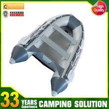 The 4 Person Aluminum Floor PVC Inflatable Boat for Fishing