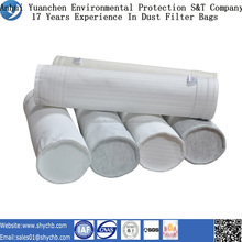 Nonwoven needle punched filter water and oil repellent polyester dust filter bag for industry