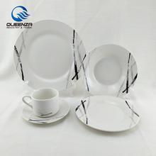 20 pcs white porcelain dinner set with custom design, dinner set modern living, fine china dinner set